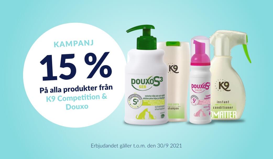 15 % rabatt på Schampo & Balsam från K9 Competition & Douxo