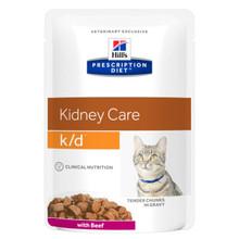 Prescription Diet k/d kattfoder Beef Pouch