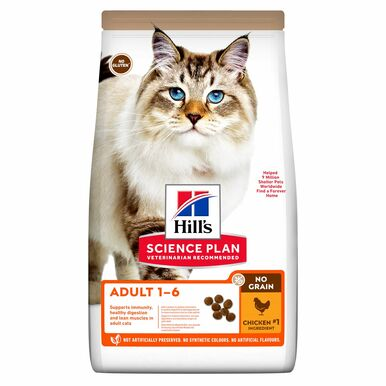 Adult Cat No Grain torrfoder med kyckling - 1,5 kg