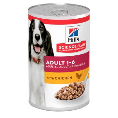 Adult våtfoder med kyckling för hund - 12 x 370 g