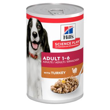Adult våtfoder med kalkon för hund - 12 x 370 g