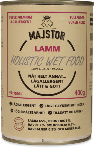 Lamm & Ris Våtfoder Hund - 6 x 400 g
