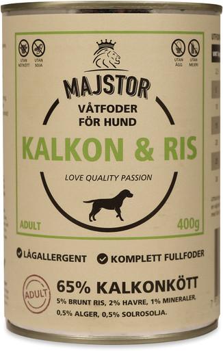 Kalkon & Ris Våtfoder Hund - 6 x 400 g