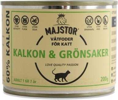 Kalkon & Grönsaker Våtfoder Katt - 6 x 200 g