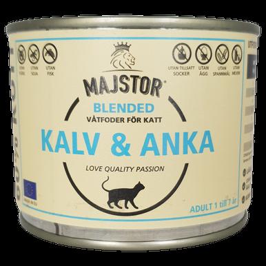 Kalv & Anka Våtfoder Katt - 6 x 200 g