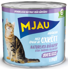 Oxkött Paté Våtfoder för Katt