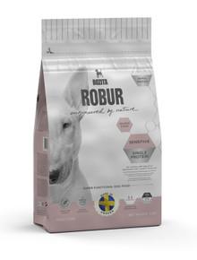 Robur Sensitive Lax Torrfoder för Hund