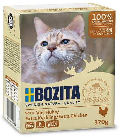 Bitar i sås kyckling för katt