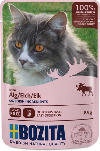 Älg i gelé för katt - 12 st x 85 g