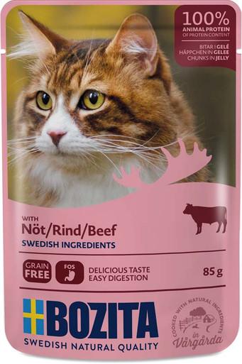 Nötkött i gelé för katt