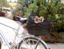 Cykelkorg med nät för pakethållare