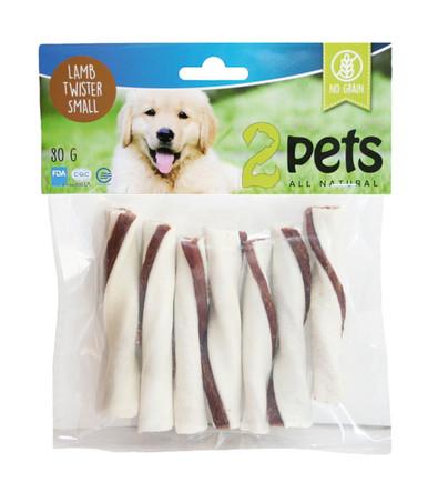 Tuggtwister med lamm för hund.