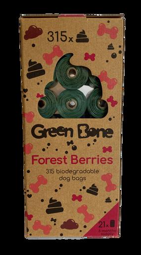Scented Bajspåse Refill - Forest Berries / 21 rullar, 315 påsar