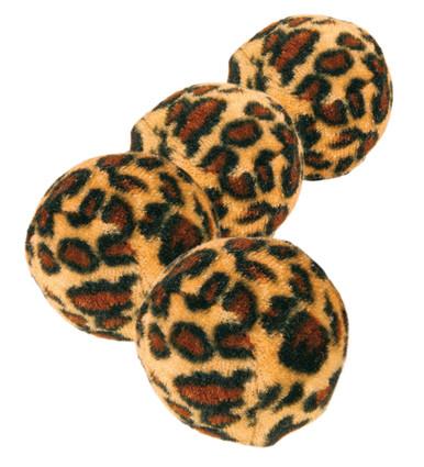 Leopardboll kattleksak 4-pack - 4-pack