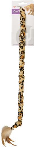 Kattspö Leopardplysch med fjädrar