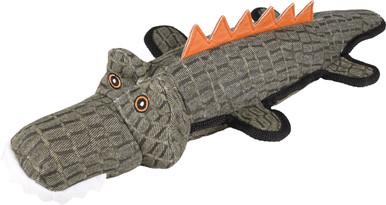 Krokodil i slitstark väv