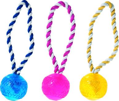 Flytande boll med rep