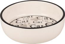 Kattskål i keramik CAT