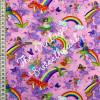 Fairies & Rainbows Pink 100% Cotton (Fairies & Rainbows - Pink)