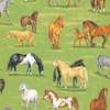 Countryside Horse Scene 100% Cotton  (In The Country - Horses)