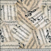 Vintage-Style Notes Sheet Musical Digital 100% Cotton (Music Maestro)