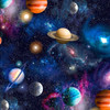 Planets Galaxy Digital 100% Cotton (Universe)