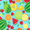 Michael Miller's Sew Fruity Turquoise 100% Cotton (MM Sew Fruity 2)