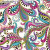 Benartex Metallic Multicoloured Swirls  White 100% Cotton (Benartex Dog On It 9)