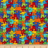 Timeless Treasures Puzzle Pieces Jigsaw 100% Cotton (TT Puzzle Pieces)