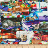 Timeless Treasures Cats & Sewing Multicoloured 100% Cotton (TT Cats On Quilts)