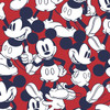Disney Happy Mickey Mouse Red 100% Cotton (Happy Mickey)