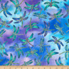 Timeless Treasures Metallic Dragonfly Blue Purple 100% Cotton (TT Dragonfly)