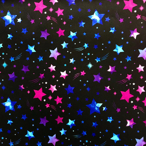 The Vintage Sweetheart Night Sky Shooting Stars Black 100% Cotton (VS Shooting Stars -1 METRE PIECE)