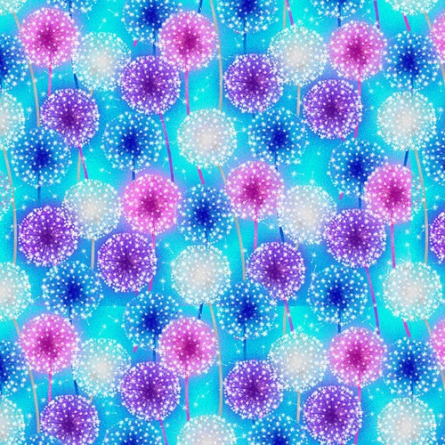 Blank Quilting's Let Your Light Shine Starburst Light Blue  100% Cotton (BQ Let Your Light Shine 1)