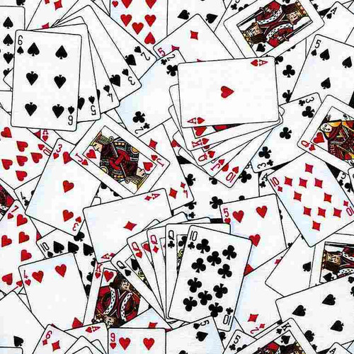 Timeless Treasures Show Me The Money! Playing Cards White 100% Cotton (TT Cards)