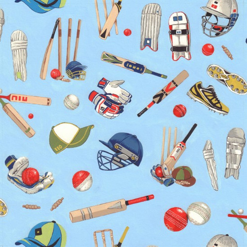 Nutex All Rounder Scattered Cricket Kit Blue 100% Cotton (All Rounder 2)