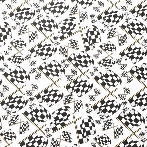 The Vintage Sweetheart Chequered Flag Black White 100% Cotton (VS Motor Racing Flags - 1 METRE PIECE)