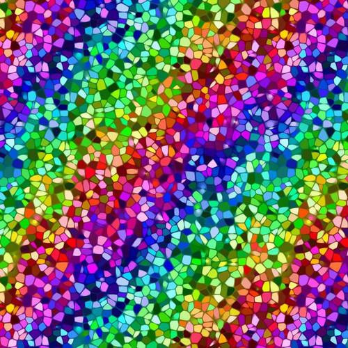 Chatham Glyn Mosaic Pattern Multicoloured 100% Cotton (CG Mosaic)