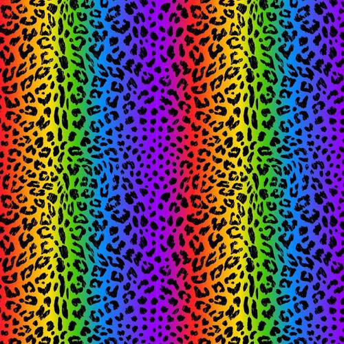 Chatham Glyn Rainbow Leopard Animal Print Skin Stripe 100% Cotton (CG Rainbow Leopard)