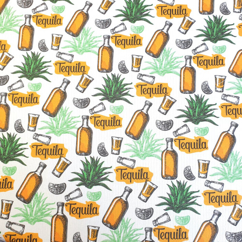 The Vintage Sweetheart Tequila White 100% Cotton (VS Tequila - 1 METRE PIECE)
