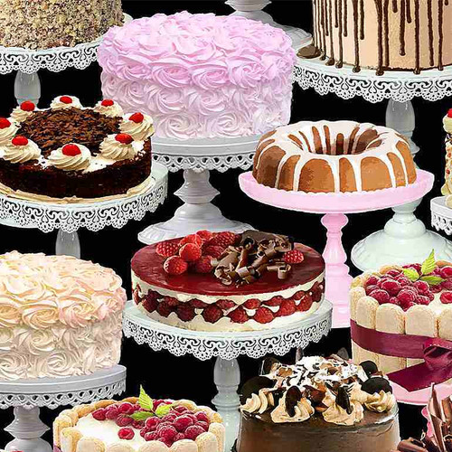Timeless Treasures Sweet Tooth Let Them Eat Cakes Black 100% Cotton (50 x 112cm TT Let Them Eat Cakes)