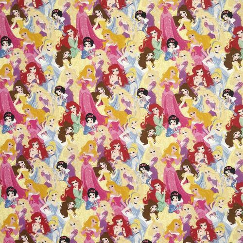 Chatham Glyn Disney Princesses Packed Multicoloured 100% Cotton (CG Disney Princesses 24)
