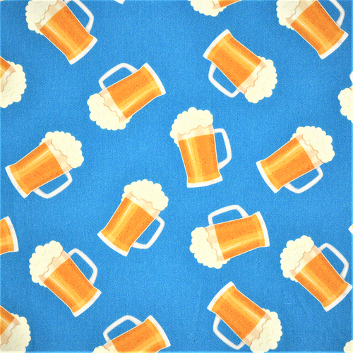 The Vintage Sweetheart Beers Blue 100% Cotton Remnant (57 x 156cm VS Let's Have A Pint)