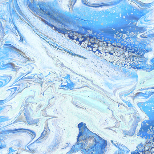 Quilting Treasures Fusion II Wave Ice Blue 100% Cotton (QT Fusion II 6)