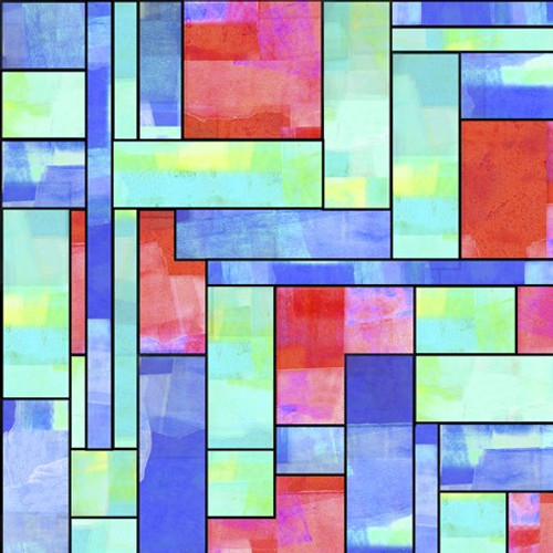 Quilting Treasures Stained Glass Garden Stained Glass Multicoloured 100% Cotton (QT Stained Glass Garden 1)