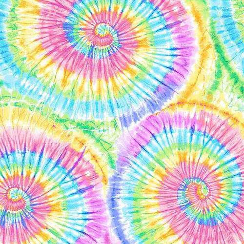 Timeless Treasures Groovy Pastel Tie-Dye Print Multicoloured 100% Cotton (TT Groovy)