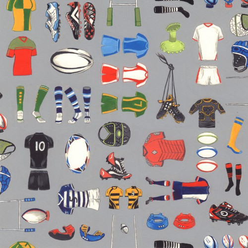 Nutex Match Day Rugby Equipment Grey 100% Cotton (Match Day 2)