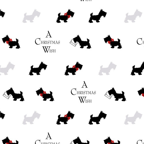 The V & A Collection A Christmas Wish Sending Wishes White 100% Cotton (A Christmas Wish 1)