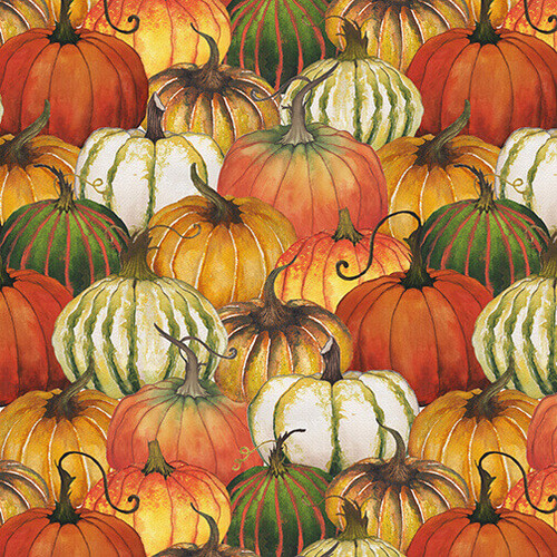 Blank Quilting Fall Delight Pumpkin Collage Multicoloured 100% Cotton (BQ Fall Delight 1)
