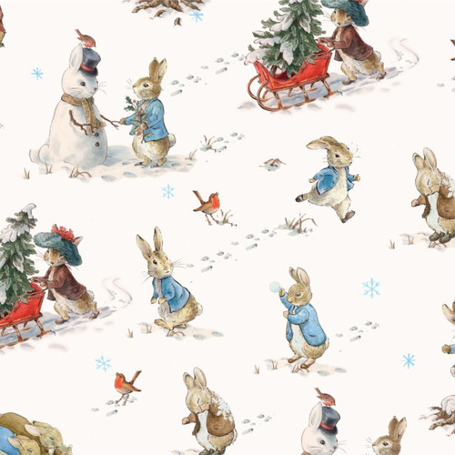 Frederick Warne & Co Peter Rabbit Fun In The Snow White 100% Cotton (Peter Rabbit 24)